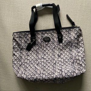 New Coach Makeup Bag Snakeskin Print
